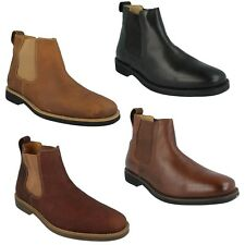 MENS ANATOMIC GEL CARDOSO SLIP ON CASUAL BLACK BROWN LEATHER CHELSEA ANKLE BOOTS