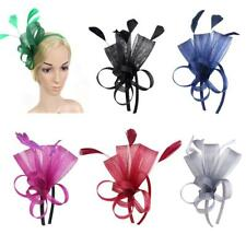 Women Feather Fascinator Veil Headband Weddings Cocktail Party Headpiece