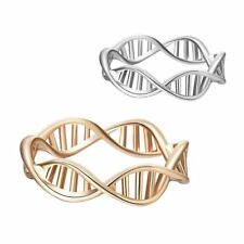 DNA Shape Ring For Women Vintage Chemistry Ring Molecule Best Friend Gifts