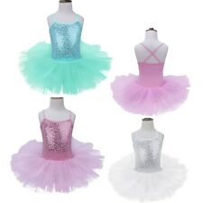 Toddler Girls Kids Dancewear Ballet Dance Dress Tutu Leotard Skirt Party Costume