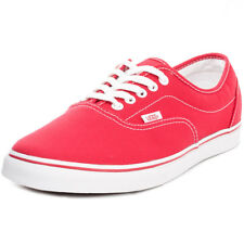 Vans Lpe Classic Unisex Red Canvas Casual Trainers Lace-up Genuine Shoes