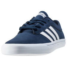adidas Sellwood Mens Blue Synthetic Casual Trainers Lace-up Genuine Shoes