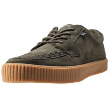 T.U.K Ezc No-ring Creeper Sneaker Mens Olive Suede Casual Trainers Lace-up