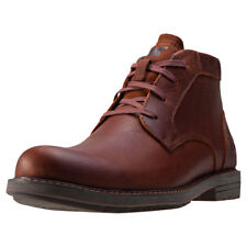 Caterpillar Brock Mens Brown Leather Casual Boots Lace-up Genuine Shoes