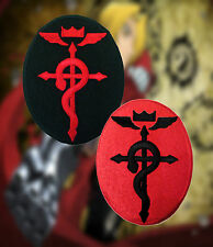 Fullmetal Alchemist Anime Flamel Cross Symbol Oval Embroidered Iron-On Patch