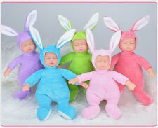 25CM Rabbit Plush Stuffed Baby Doll Simulated Babies Sleeping Dolls Children...