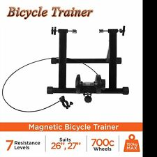 New Foldable Indoor Bicycle Bike Turbo Trainer Fan Fly Wind Wheel Quiet Black #
