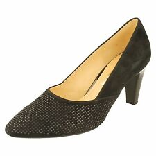 Ladies Gabor Mid Heel Court Shoes - 65150