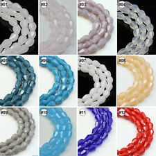 Mixed Colour Synthetic Crystal Imitated Jade Gemstone Drip Shape Loose Beads