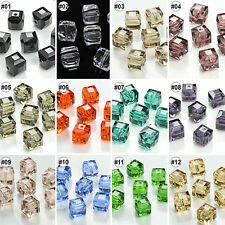 50/100pcs Mixed Color Loose Beads Synthetic Crystal Gemstone Square Shape