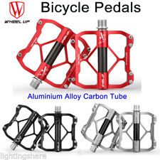 """Cycling Mountain Bike Flat Pedals 9/16"""" Alloy BMX MTB Bicycle Pedals 3 Bearing"""