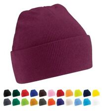 Knitted Beanie Hat - Unisex Wooly Winter Warm Mens Ladies Ski Snowboard