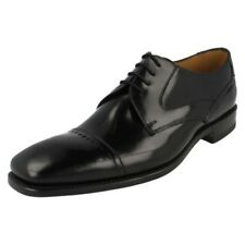 Mens Loake Black Polished Leather Toe Cap Lace Up Formal Derby Shoes 250B