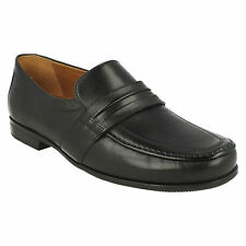 CLAUDE ASTON MENS CLARKS FORMAL SLIP ON WIDE LEATHER CLASSIC LOAFERS SHOES SIZE