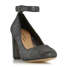 Head Over Heels by Dune Ladies ARIANA Ankle Strap Court Shoe in Pewter