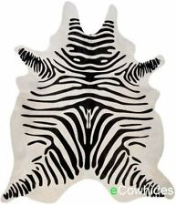 Zebra Cowhide Rug Cow Hide Area Rugs Skin Leather