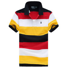HIGH QUALITY CASUAL POLO MEN'S T-SHIRTS SHORTSLEEVE CREW NECK GOLF SIZE S-XXL