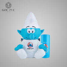 GOC IN C Cute Smurfs Blue Thermos Mug Baby Bottle Stainless Steel Insulation Cup