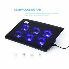 6 Fans LED USB Cooling Stand Pad Cooler For 11''-16.5'' Laptop Notebook Lot MU