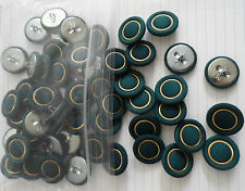New LOT 10-20 pcs Green Gold Covered Fabric Sewing Buttons 7/8 inches