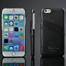 For Apple iPhone 6 Plus Vintage Case Genuine Leather Cover Skin Two Card Pockets
