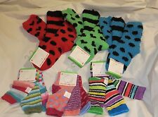 littleMissMatched FUZZY Ankle Socks Size 9-11 **COLORFUL!! ** NEW **