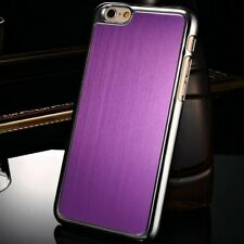 For Apple iPhone 6 6s Aluminum Case Hard Back Brushed Style Cover Glossy Chrome