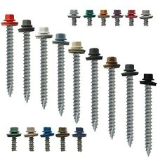 "#14 x 2-1/2"" METAL ROOFING SCREWS: Colored Metal Roofing Screw Siding Screw(250)"