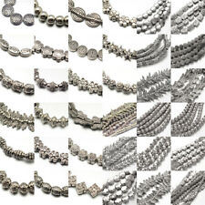 """10 Strds 8"""" Tibetan Alloy Metal Beads Antique Silver Loose Spacers Pick Shapes"""