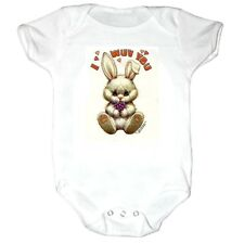 Infant creeper bodysuit romper t-shirt Bunny Rabbit I Wuv Love You (k-266)
