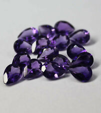 Natural Amethyst Faceted Cut Pear 3x4mm To 13x18mm Purple Color Loose Gemstones