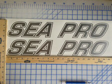 SEA PRO BOAT DECALS 18 COLORS AVAILABLE EMBLEM PAIR HIGHEST QUALITY STICKERS