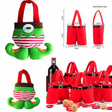 Xmas Gift Bag Red Santa Pants Treat Candy Bags /Elf Socks Candy for Gift Party