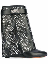 new 100%auth Givenchy shark lock studded boots SHOES us 8 38 uk 5 ret $3495!!!