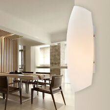 Modern Indoor Cradle Shaped White Metal & Glass Single-Light Wall Light Sconce