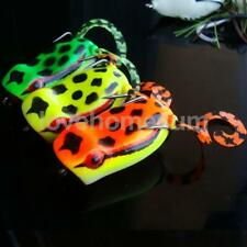 3D Popper Frog Top Water Fishing Lures Crank Baits Hooks Snakehead Bait Tackle