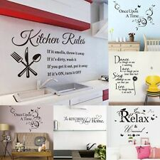 DIY Quotes Saying Vinyl Wall Stickers Bedroom Home Kitchen Decal Mural Art Decor