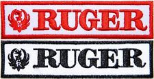 RUGER Logo Firearm Pistol Gun Patch Iron on Embroidered Jacket Vest Suit Cap Hat