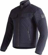 Triumph Quilted Barbour Motorcycle Jacket - Blue -  Official Triumph Clothing
