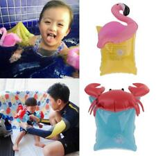 2pcs Inflatable Flamingo/Crab Safety Float Toddle Kids Swim Arm Band Ring Wings