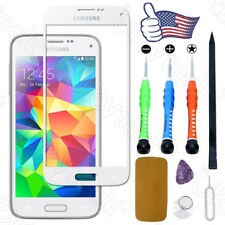 White Front Screen Glass Lens Replacement Repair Tool Kit For Samsung Galaxy S5