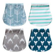 Baby Burp Cloths Drool Bibs Waterproof Triple Layer Cotton 4 Pack/Set Gift M9Q6