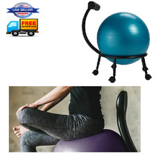 Fitness Ball Chair Adjustable Balance Fit Seat For Home Yoga Desk Office Blue