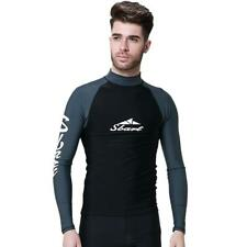Men's Scuba Dive Wetsuit Shirts Long Sleeve Surf Surfing Diving Rash Guard Top