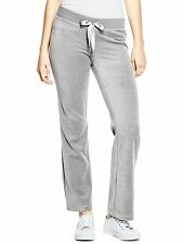 Guess Track Pants Womens Stretch Velour Sweatpants Lounge Pants XS or S Grey NWT