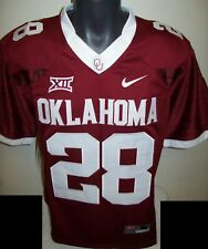 Oklahoma SOONERS #28 PETERSON Sewn Jersey M L XL 2X 3X RED or WHITE