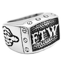 Punk Rock Men's Ring FTW 316L Stainless Steel Finger Ring Band Fashion Jewelry