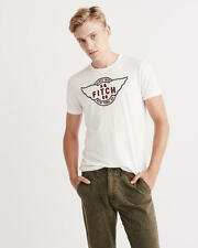 Abercrombie and Fitch T-Shirt Men's Logo Graphic Tee Shirt L or XL White NWT