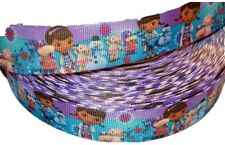 "Doc McStuffins Girls Cartoon Inspired 1"" Printed Grosgrain Hairbow Ribbon"