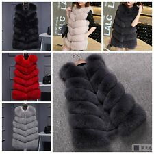 Women Warm Faux Fur Vest Jacket Gilet Coat Winter Outwear Waistcoat Overcoat